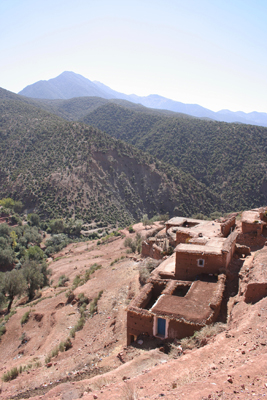 Mud-brick house in a Berber village