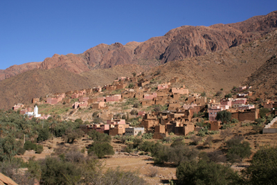 An Ameln valley village, Anti Atlas