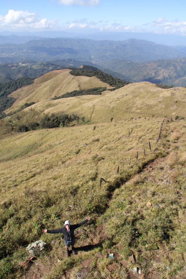 The view west from Sirhoi Kashong peak. One of the highest points in Manipur.